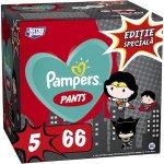 Scutece-chilotel Pampers Pants cu supereroii DC  Editie speciala, Marimea 5, 12-17 kg, 66 buc