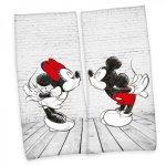 Set 2 prosoape Herding Mickey si Minnie bumbac 80 x 180 cm