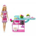 Set Barbie by Mattel Florarie cu papusa si accesorii