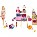 Set Barbie by Mattel Magazin accesorii animalute cu papusa si accesorii
