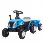 Tractor electric cu remorca New Holland Blue