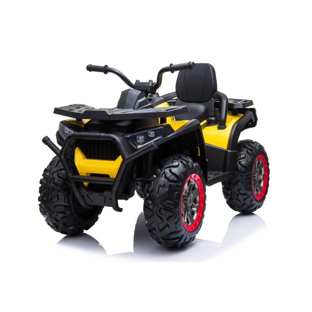 Atv electric 12V cu roti EVA si lumini Buggy Desert Painted Yellow