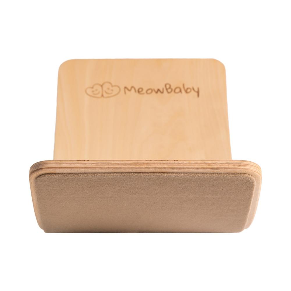 Balance board Placa de echilibru din lemn pentru copii cu protectie bej MeowBaby