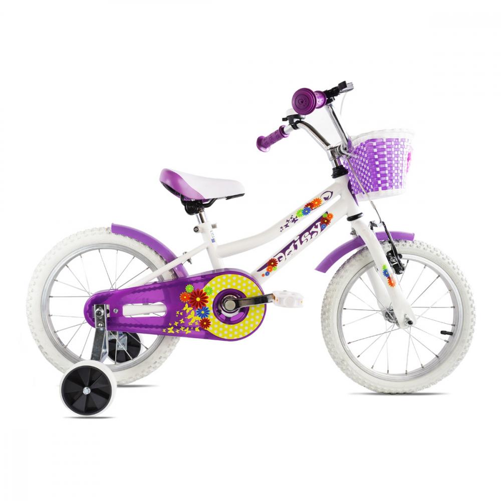 Bicicleta copii Dhs 1604 alb 16 inch