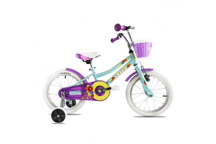 Bicicleta copii Dhs 1604 turquoise 16 inch