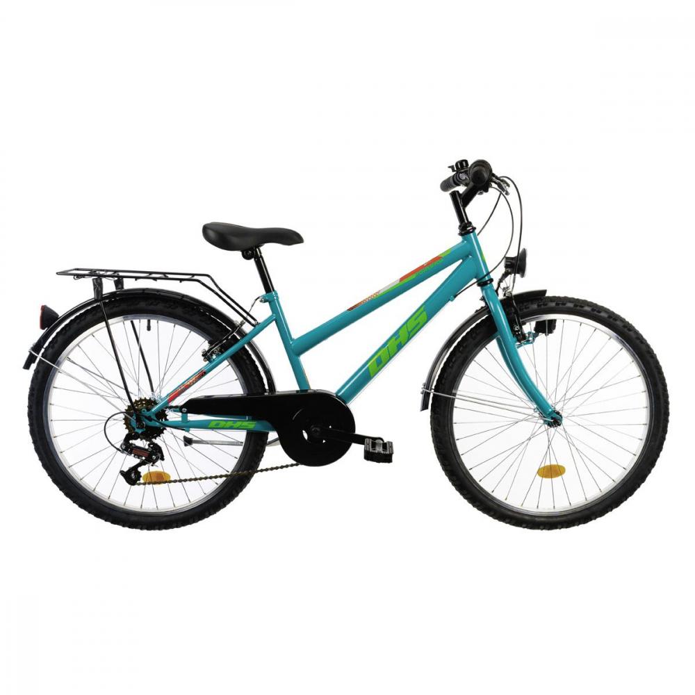 Bicicleta copii Dhs Terrana 2414 turcoaz 24 inch - 2
