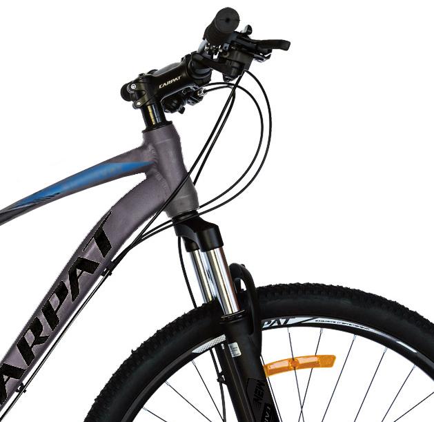 Bicicleta MTB-HT Shimano Tourney TY-300 21 viteze 29 inch Carpat CSC2957C gri cu albastrunegru