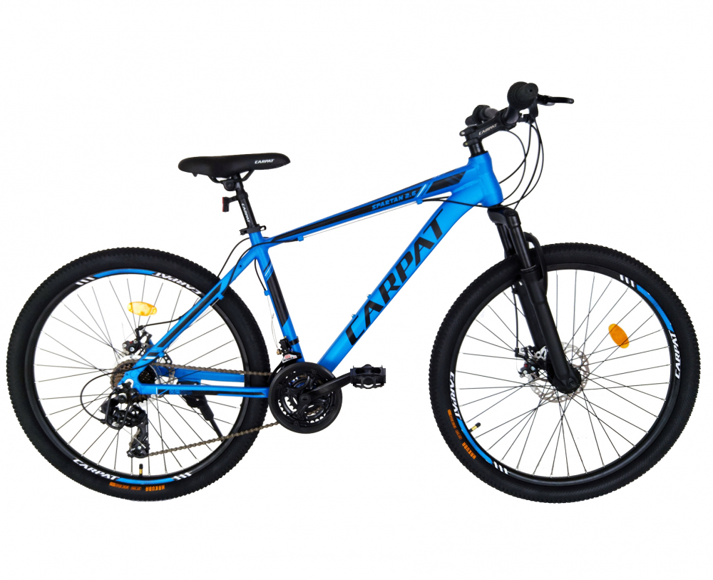 Bicicleta MTB-HT schimbator Shimano 21 viteze 26 inch cadru aluminiu Carpat CSC2658C albastru cu negru