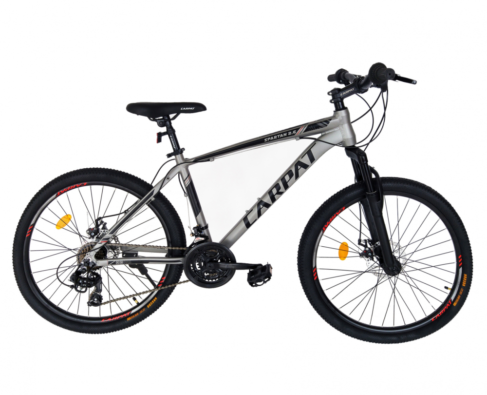 Bicicleta MTB-HT schimbator Shimano 21 viteze 26 inch cadru aluminiu Carpat CSC2658C gri cu negru