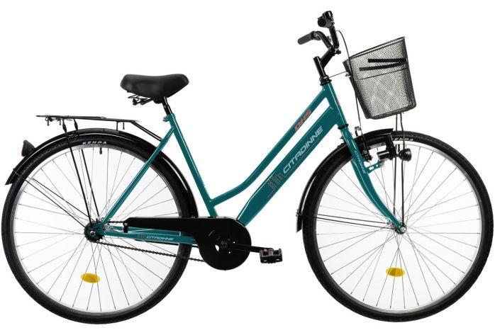 Bicicleta oras Dhs Citadinne 2812 verde 28 inch L