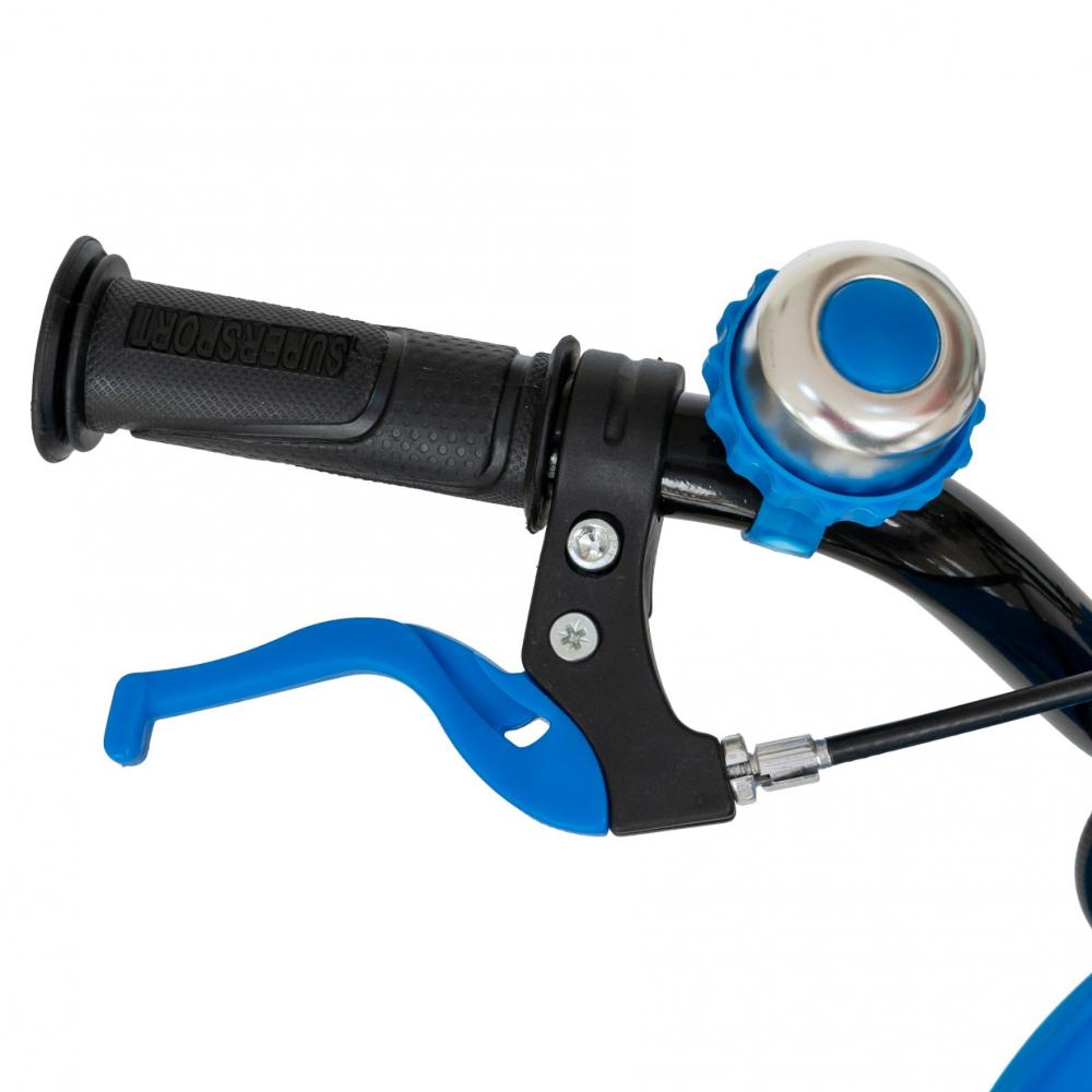 Bicicleta baieti 3-5 ani 14 inch Rich Baby CSR14WTB Albastru