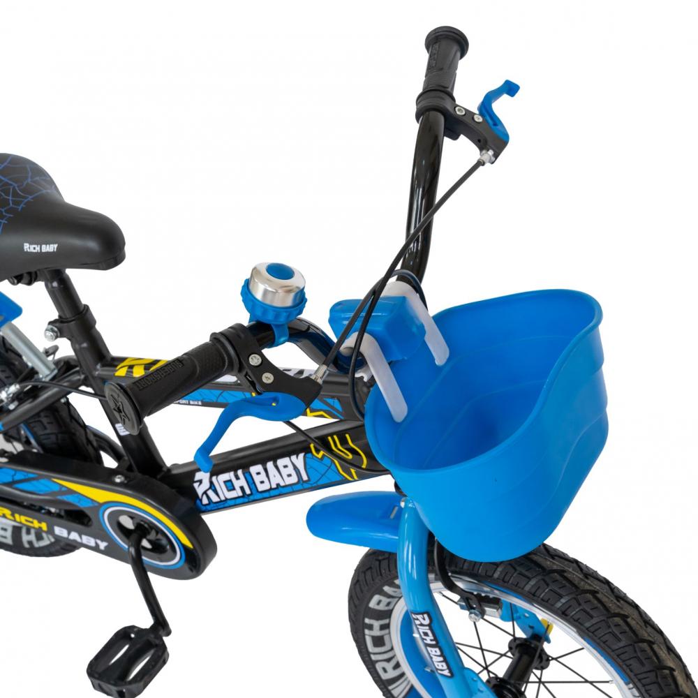 Bicicleta baieti 3-5 ani 14 inch Rich Baby CSR14WTB Albastru - 3