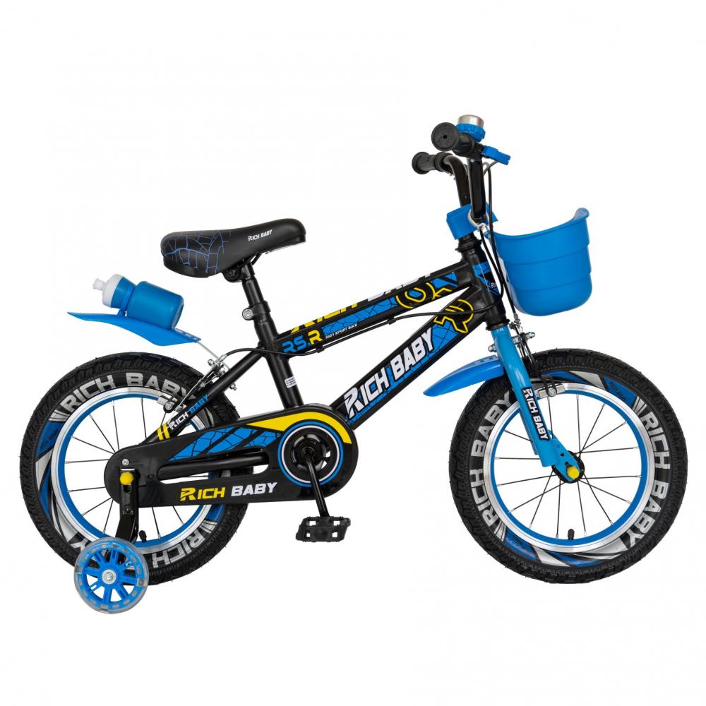 Bicicleta baieti 3-5 ani 14 inch Rich Baby CSR14WTB Albastru - 8