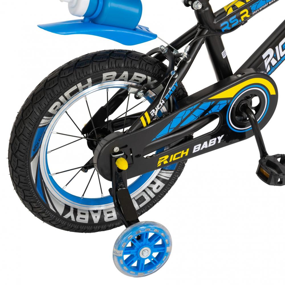 Bicicleta baieti 3-5 ani 14 inch Rich Baby CSR14WTB Albastru - 7