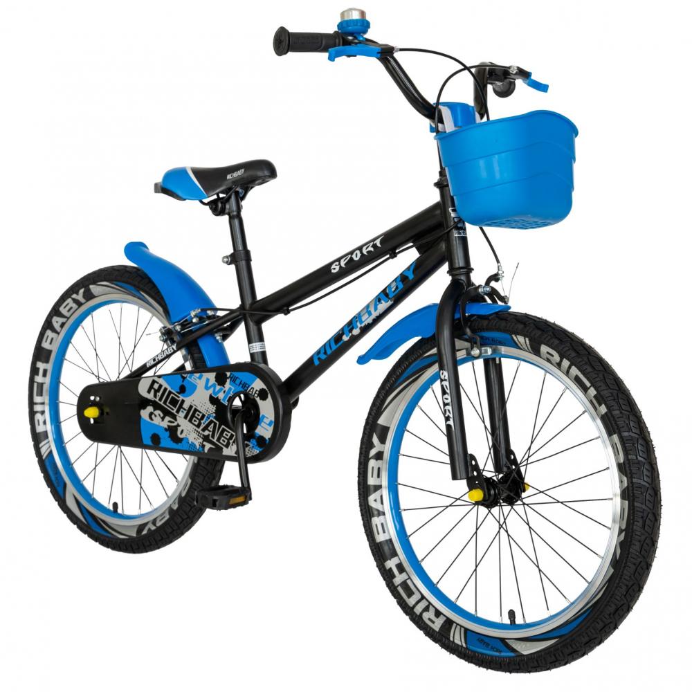 Bicicleta copii 20 inch C-Brake Rich Baby CSR2003A 7-10 ani Albastru - 1