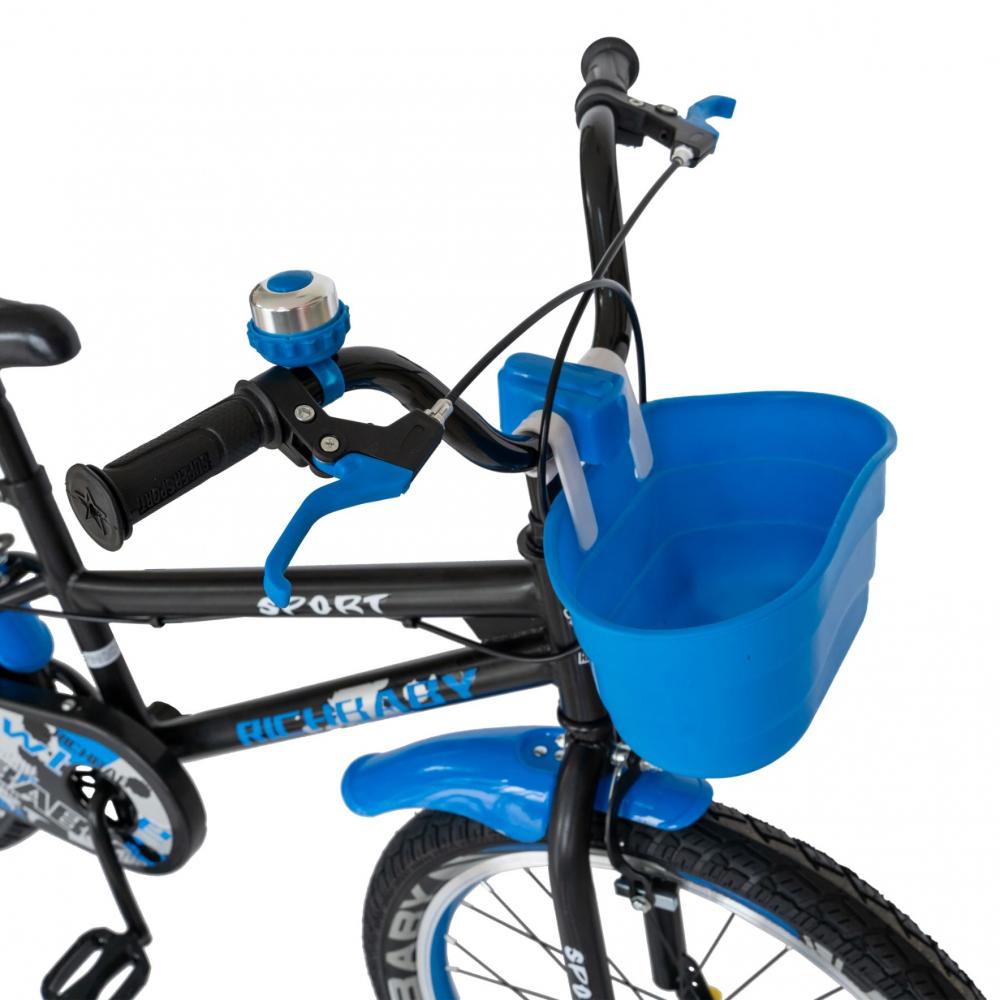 Bicicleta copii 20 inch C-Brake Rich Baby CSR2003A 7-10 ani Albastru - 2