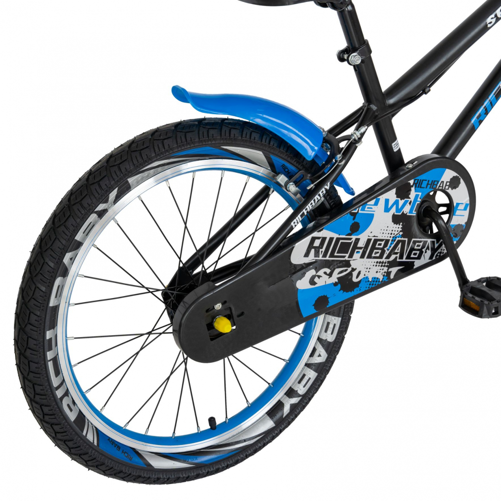 Bicicleta copii 20 inch C-Brake Rich Baby CSR2003A 7-10 ani Albastru - 3