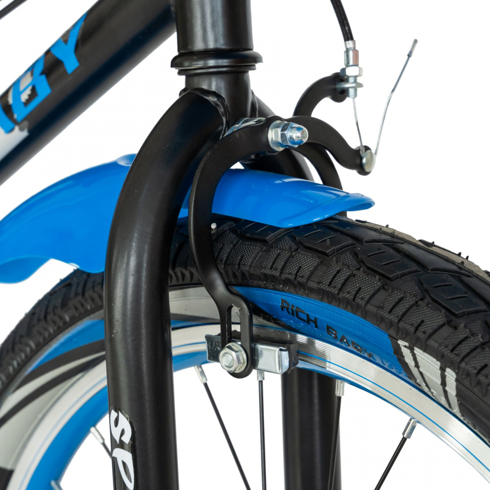 Bicicleta copii 20 inch C-Brake Rich Baby CSR2003A 7-10 ani Albastru - 4