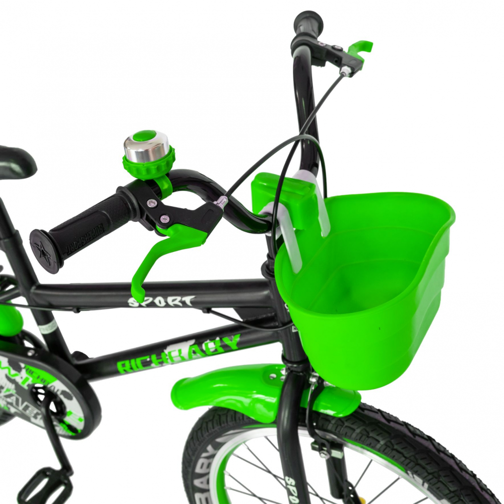 Bicicleta copii 20 inch C-Brake Rich Baby CSR2003A 7-10 ani Verde
