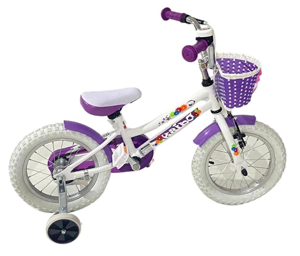 Bicicleta copii Dhs 1402 alb 14 inch