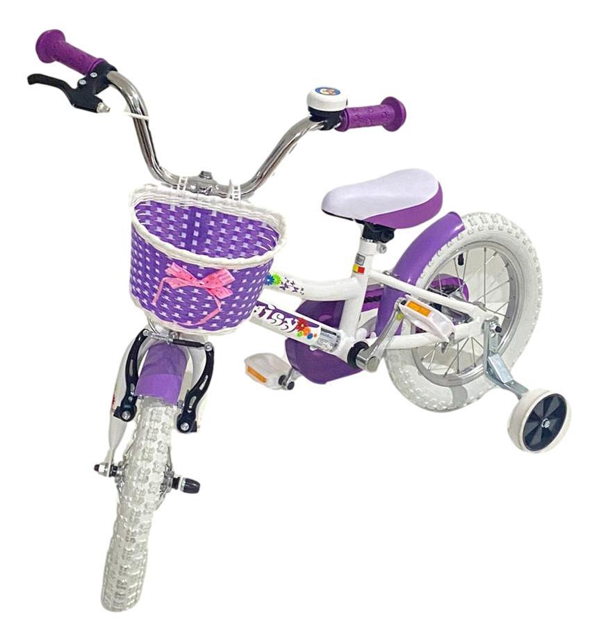 Bicicleta copii Dhs 1402 alb 14 inch - 1