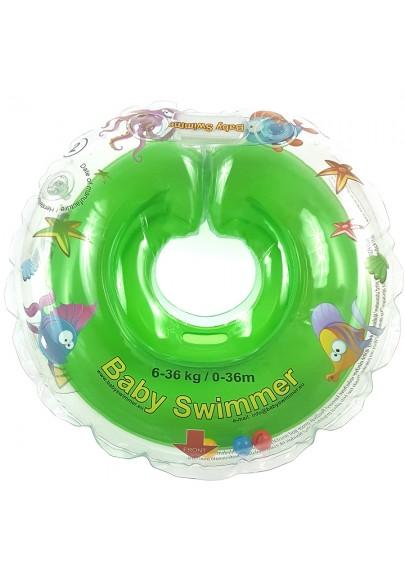 Colac De Gat Pentru Bebelusi Babyswimmer Verde 6-36 Luni