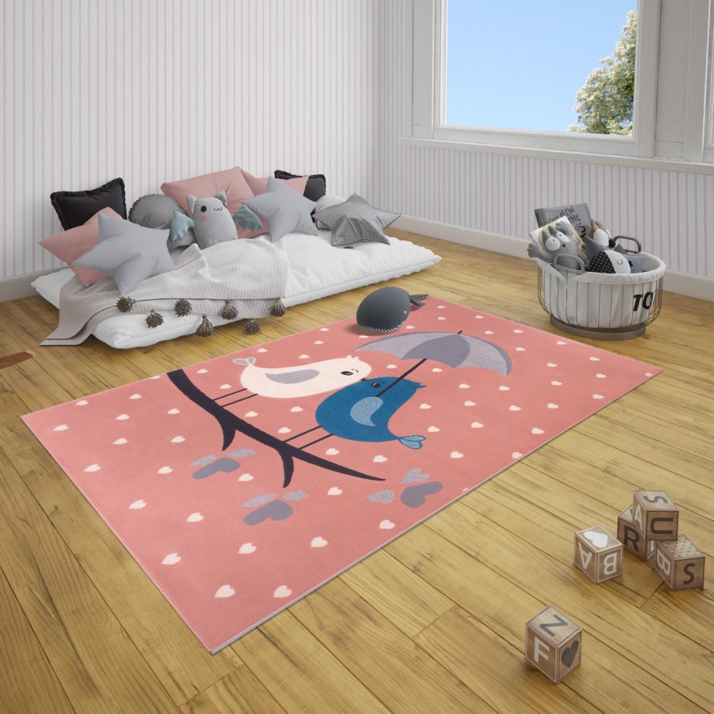 Covor copii tineret Adventures roz 120x170
