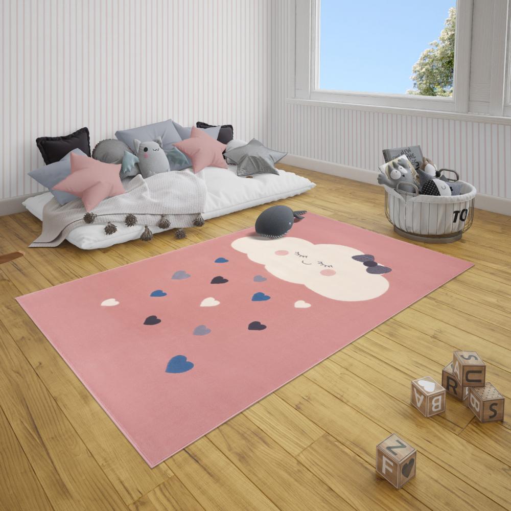 Covor copii tineret Adventures roz 80x150