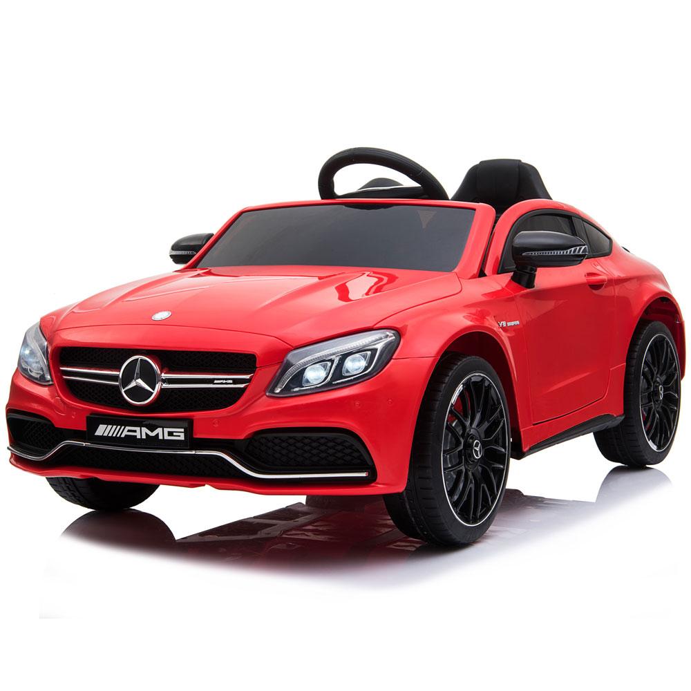 Masinuta electrica cu telecomanda Mercedes C63S Red - 3