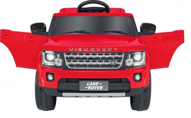 Masinuta electrica copii Discovery Land Rover Rosie Globo 12V cu telecomanda 2.4 Ghz