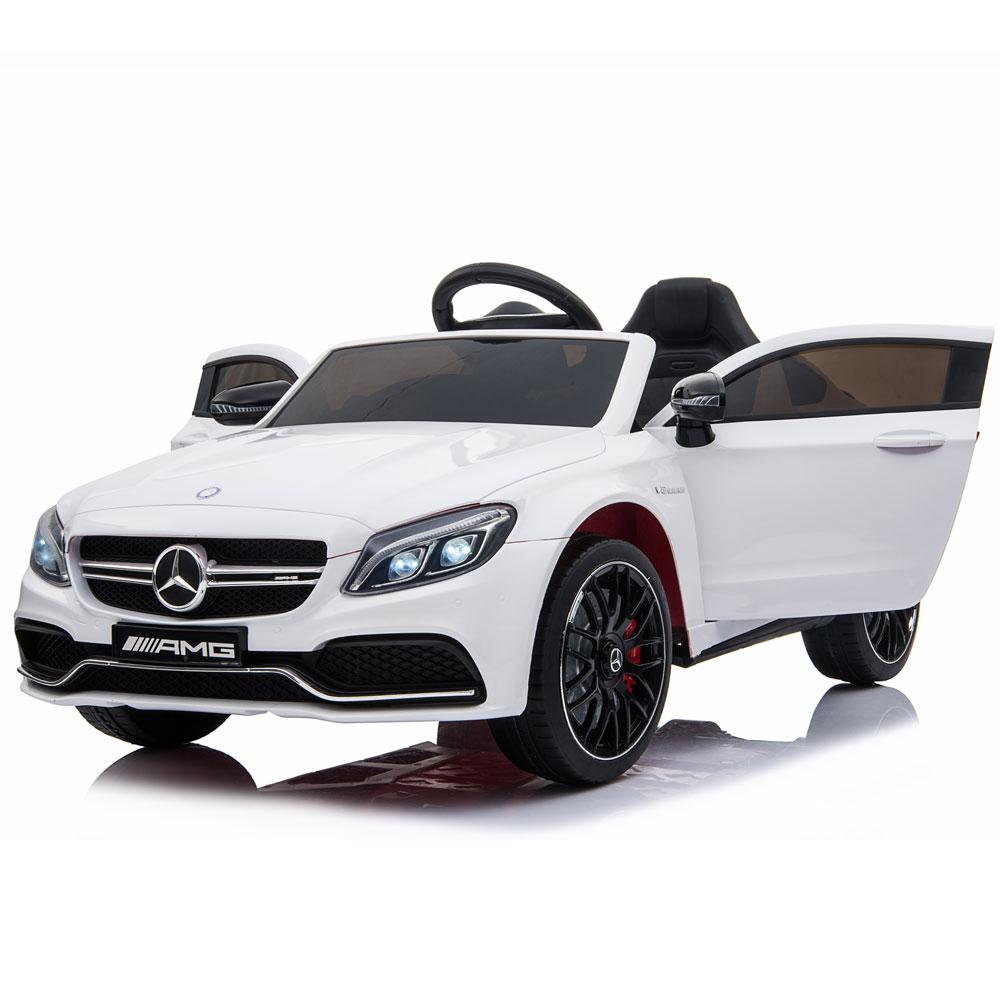 Masinuta electrica cu telecomanda Mercedes C63S White - 3