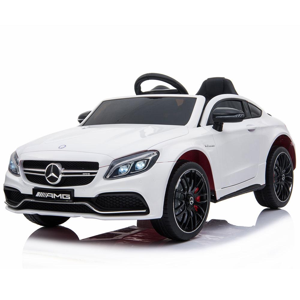Masinuta electrica cu telecomanda Mercedes C63S White