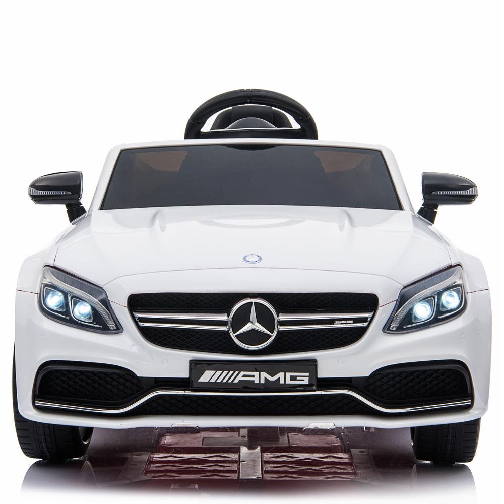 Masinuta electrica cu telecomanda Mercedes C63S White - 1
