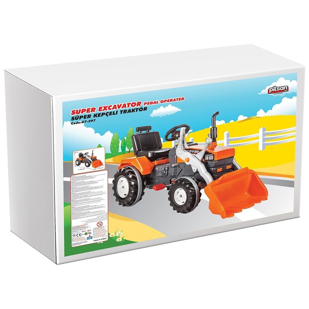 Tractor cu pedale Pilsan Super Excavator 07-297 orange - 1