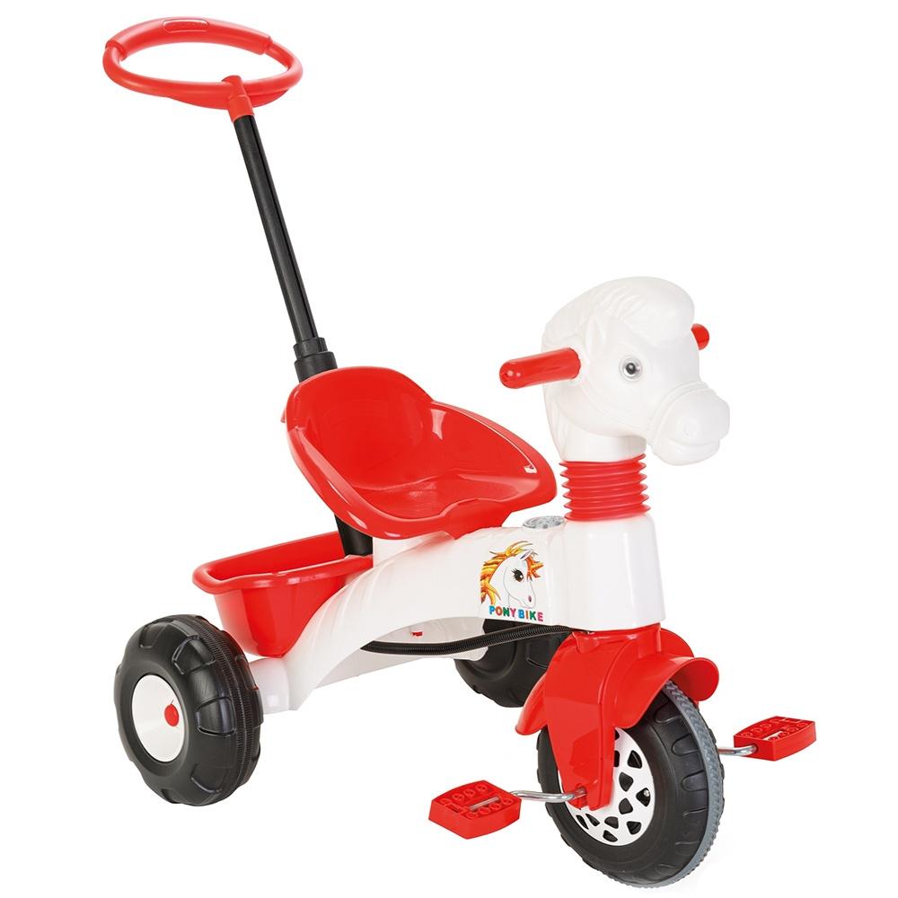 Tricicleta Pilsan Pony White Cu Maner