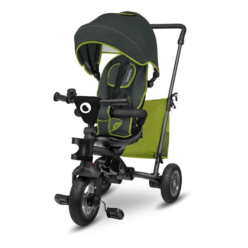 Tricicleta multifunctionala cu sezut reversibil pliabila Tris Green Lime