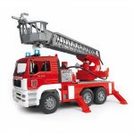 Camion de pompieri Man Tga cu scara pompa de apa si sirena Bruder