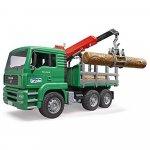 Camion lemne Man Tga cumacara de incarcare si 3 busteni Bruder