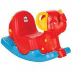 Balansoar pentru copii Pilsan Happy Elephant red