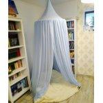 Baldachin de tavan bleu cu buline marunte diametru 75 cm