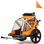 Remorca de bicicleta pana la 32 kg Bellelli B-Travel Orange
