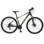 Bicicleta MTB-HT Shimano Tourney TY-300 21 viteze 29 inch Carpat CSC29/57C negru cu galben/albastru