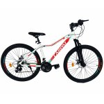 Bicicleta MTB-HT schimbator Shimano 21 viteze 26 inch Cadru Aluminiu Carpat CSC26/52A alb cu rosu
