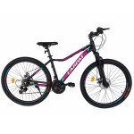 Bicicleta MTB-HT schimbator Shimano 21 viteze 26 inch Cadru Aluminiu Carpat CSC26/52A negru cu mov