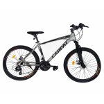 Bicicleta MTB-HT schimbator Shimano 21 viteze 26 inch cadru aluminiu Carpat CSC26/58C gri cu negru