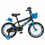 Bicicleta baieti 4-6 Ani 16 inch Frane C-Brake Rich Baby CSR16/WTB negru cu albastru