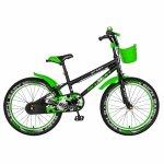 Bicicleta copii 20 inch C-Brake Rich Baby CSR20/03A 7-10 ani Verde