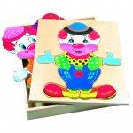 Puzzle copii din lemn Imbraca-l pe Friedo Bino