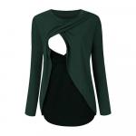 Bluza cu doua straturi gravide si alaptare S verde