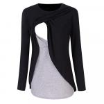 Bluza cu doua straturi gravide si alaptare XL negru